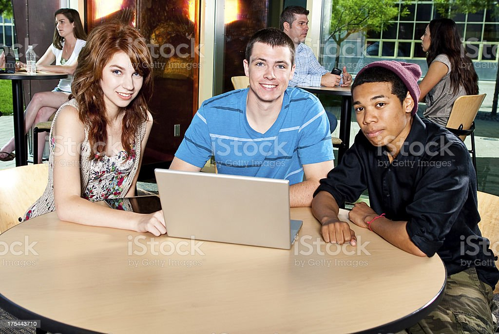 Male and Female College Students royalty-free stock photo