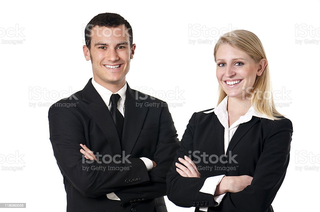 Male And Female Corporate Types royalty-free stock photo