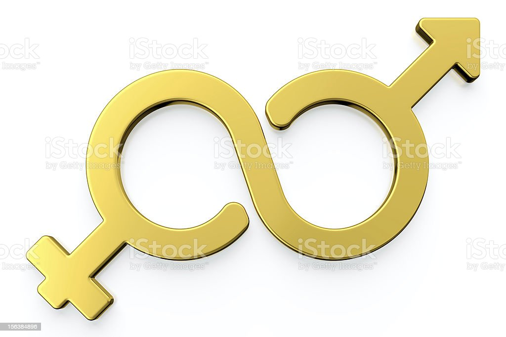 Male and female gender symbols. royalty-free stock photo