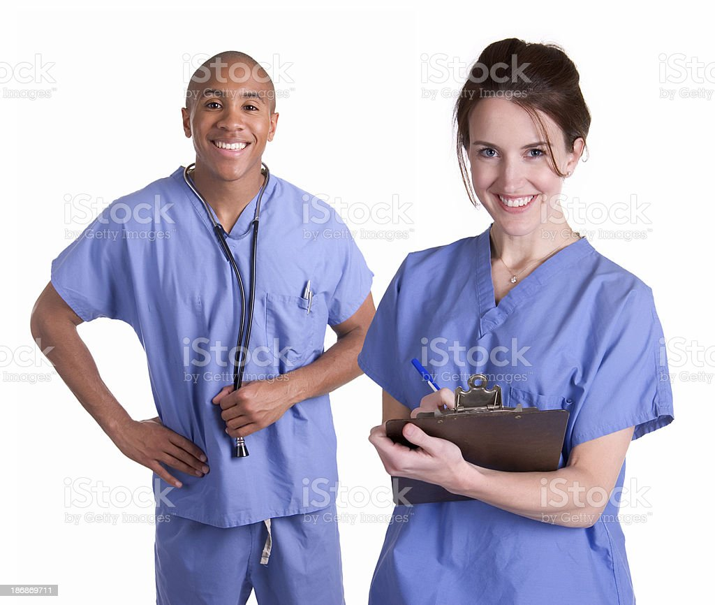 Male and Female Nurses royalty-free stock photo