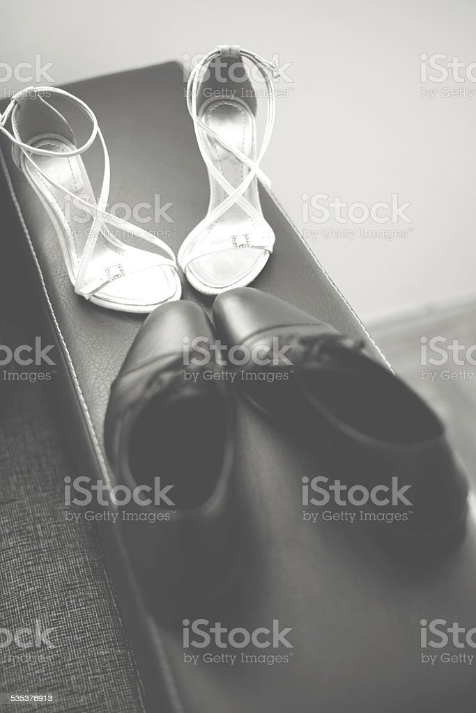 Male and female shoe stock photo