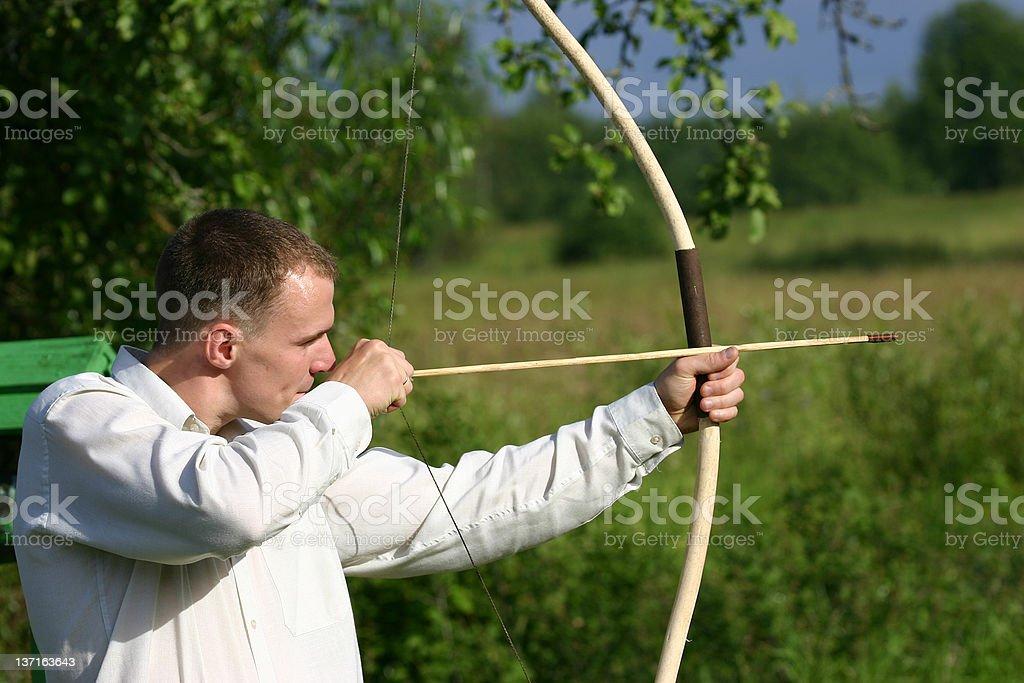 Male archer stock photo