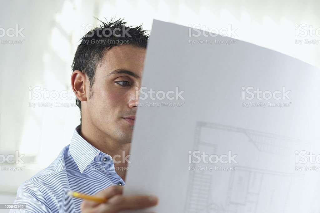 male architect royalty-free stock photo