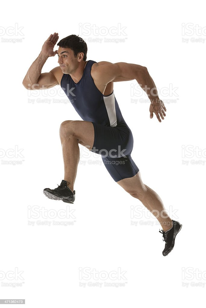Male athlete running royalty-free stock photo