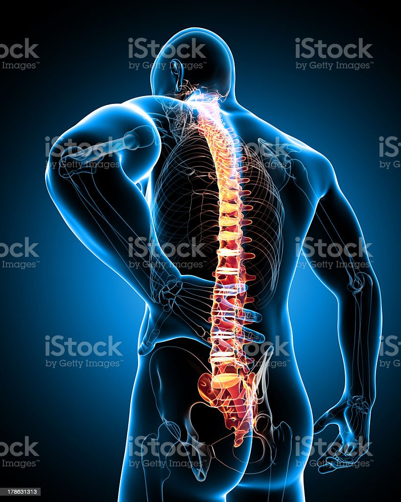 male back pain stock photo