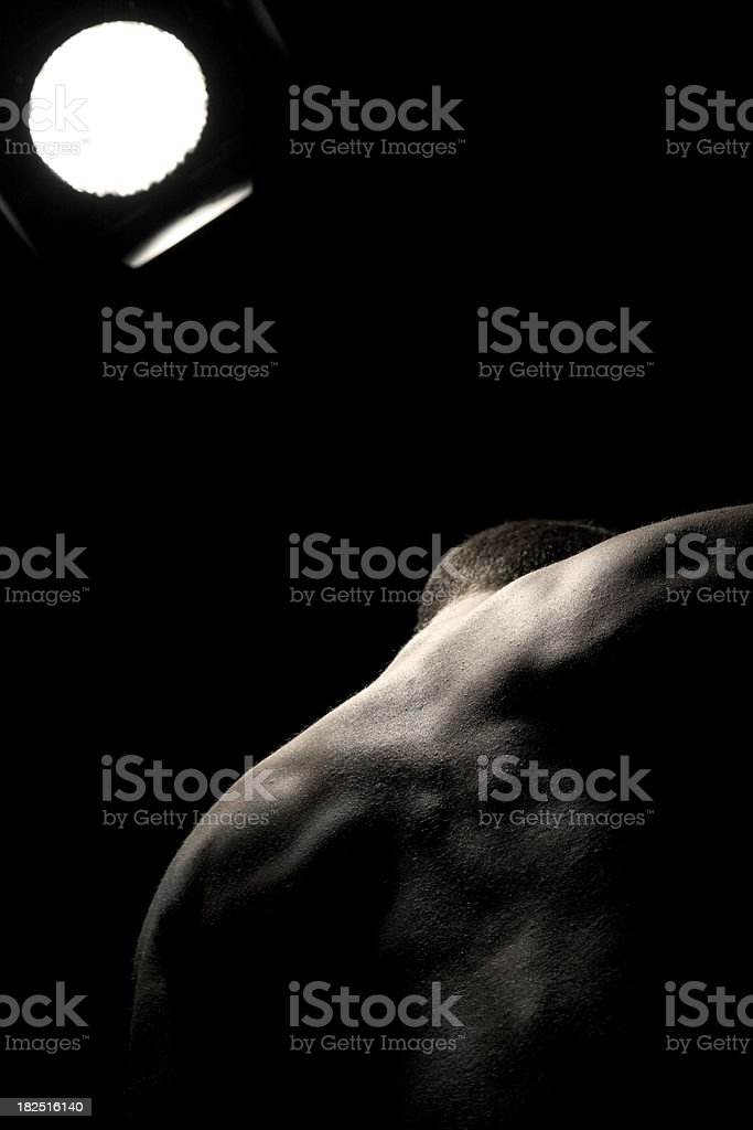 Male back. royalty-free stock photo