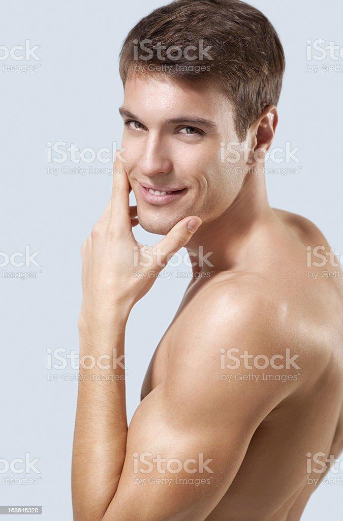 Male beauty. royalty-free stock photo