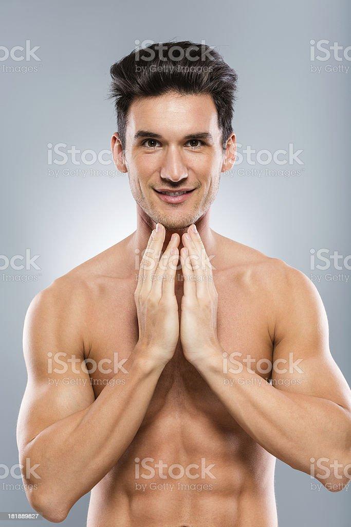 Male beauty royalty-free stock photo