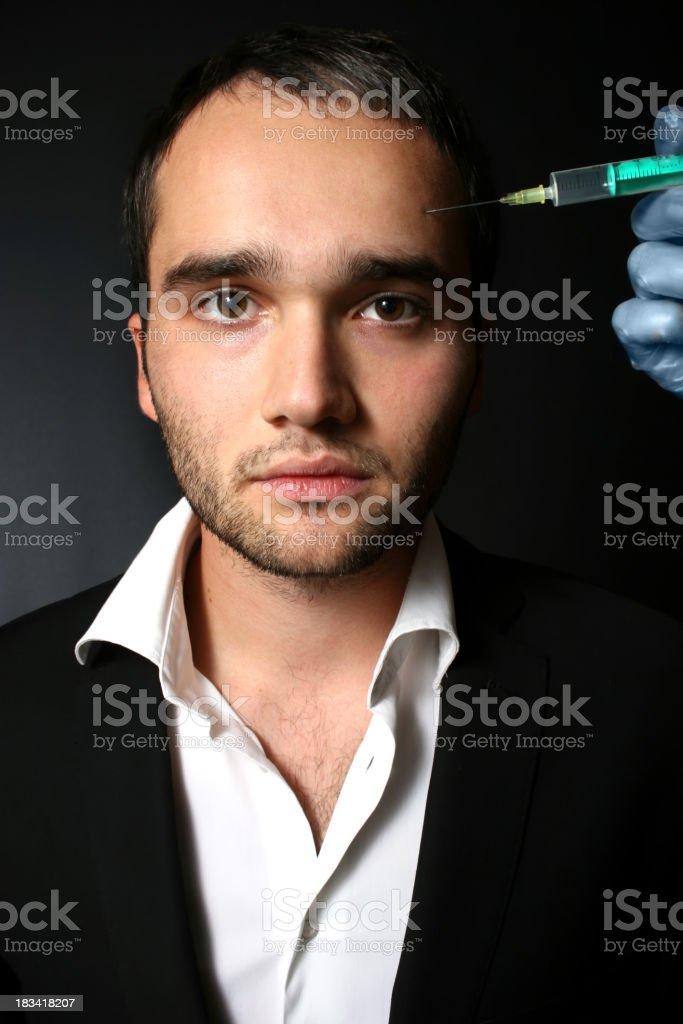 Male beauty treatment royalty-free stock photo