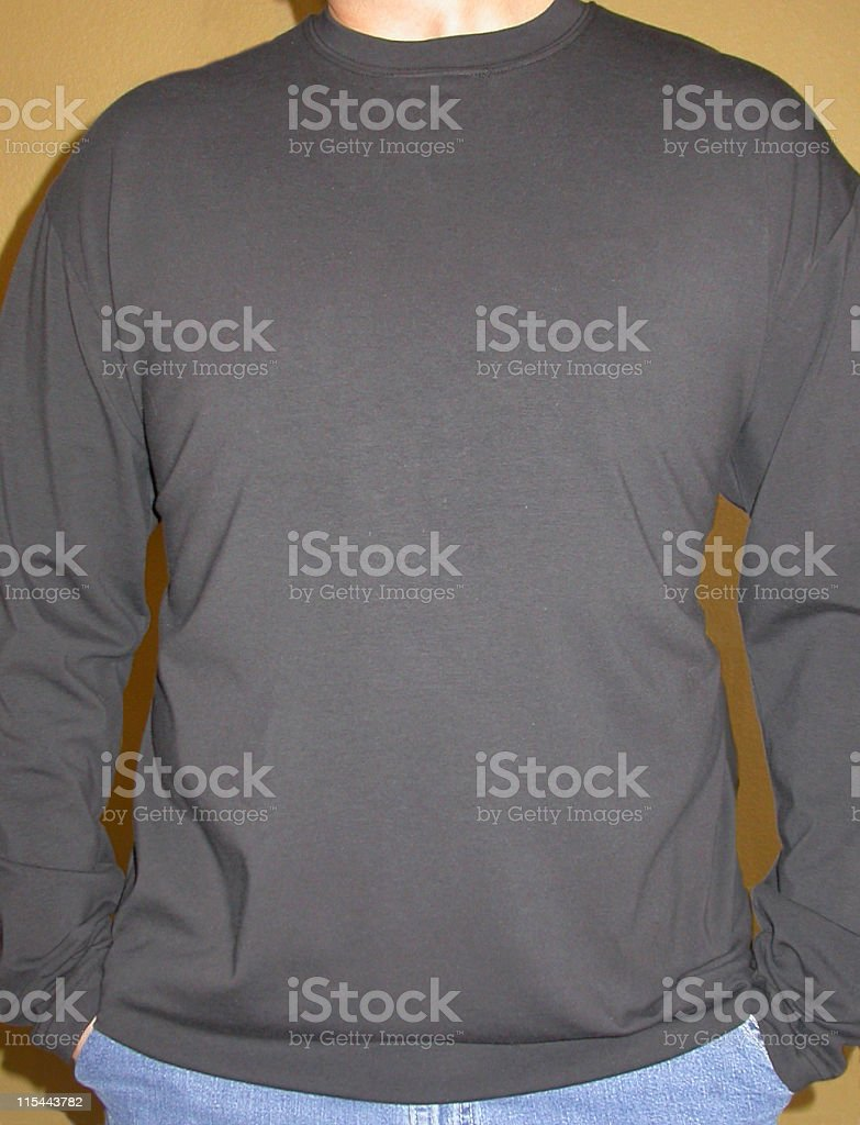 Male Black Long Sleeve Shirt royalty-free stock photo