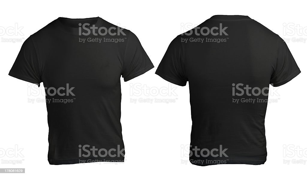 Male black shirt template stock photo