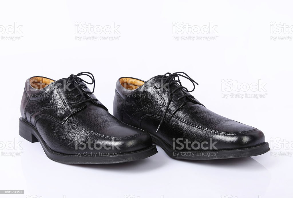 Male Black shoes stock photo