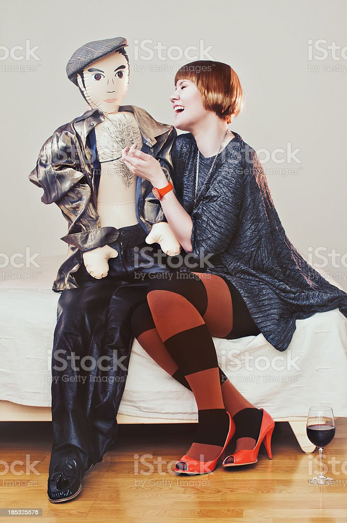 male blow up doll stock photo