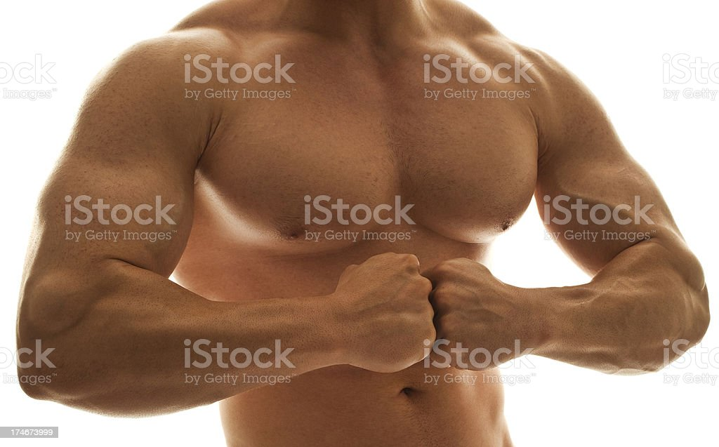 Male body builder stock photo