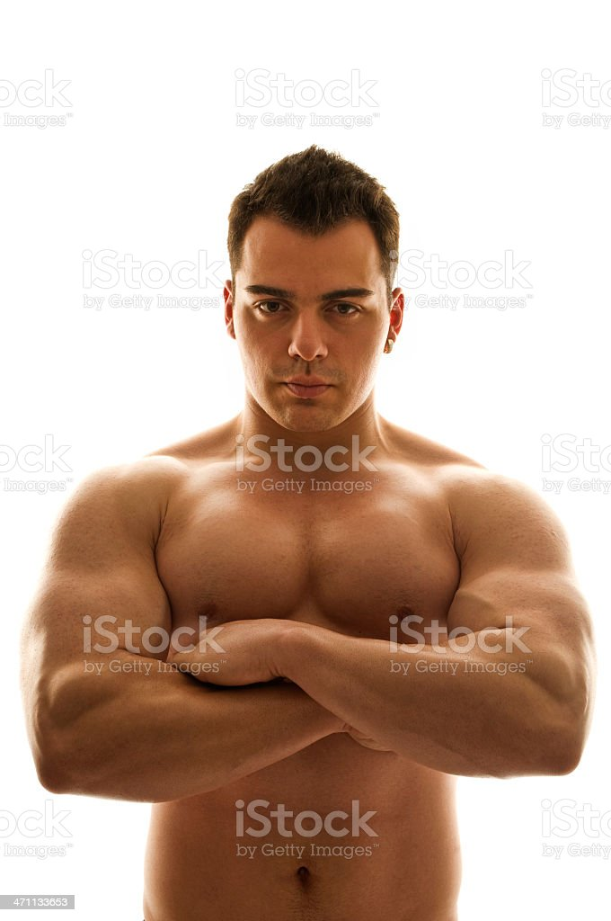 Male body builder royalty-free stock photo