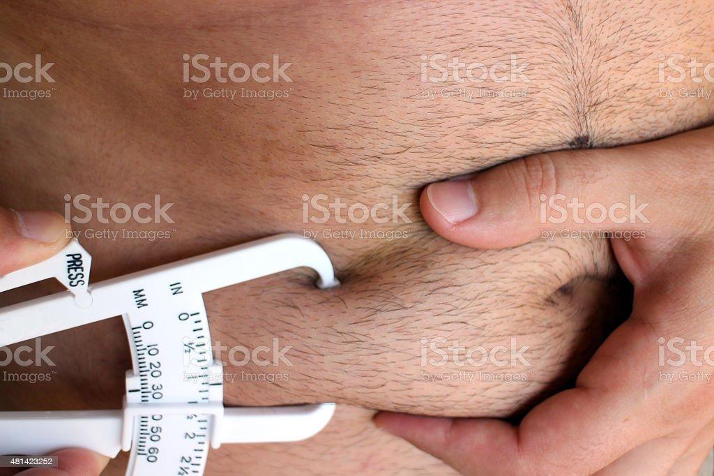 Male Body Fat stock photo