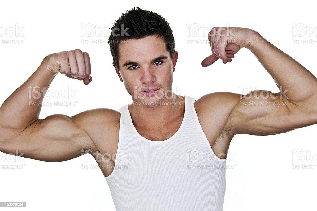 Male bodybuilder royalty-free stock photo