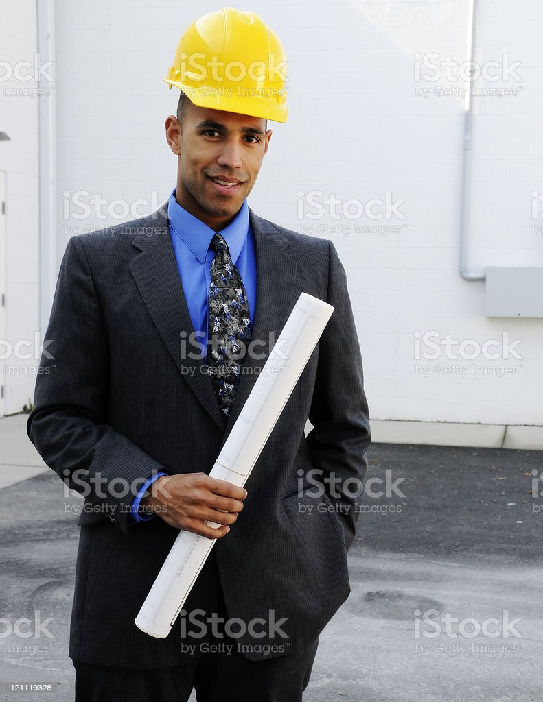 Male Building Contractor royalty-free stock photo