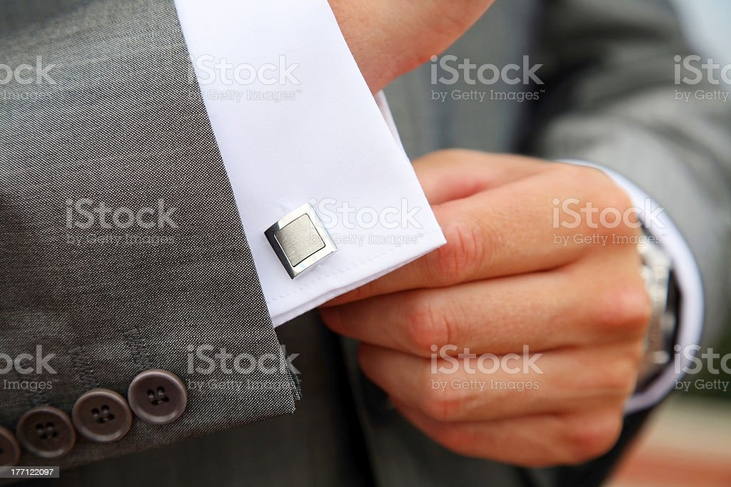 Male business style royalty-free stock photo
