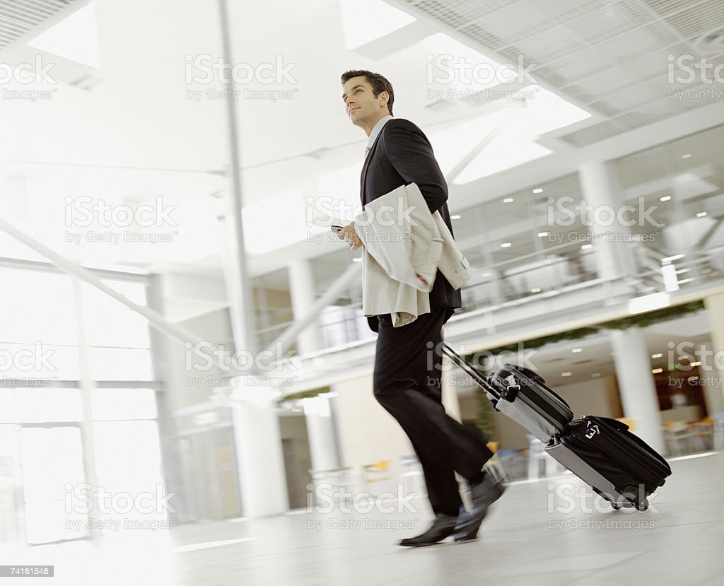 Male business traveler royalty-free stock photo
