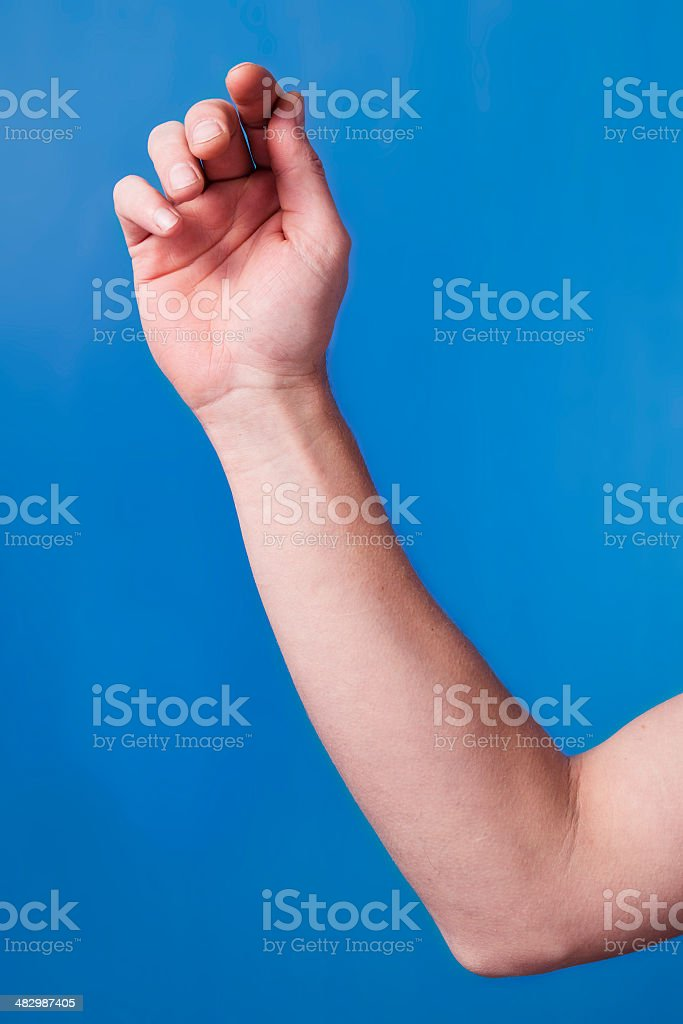Male Caucasian Arm stock photo