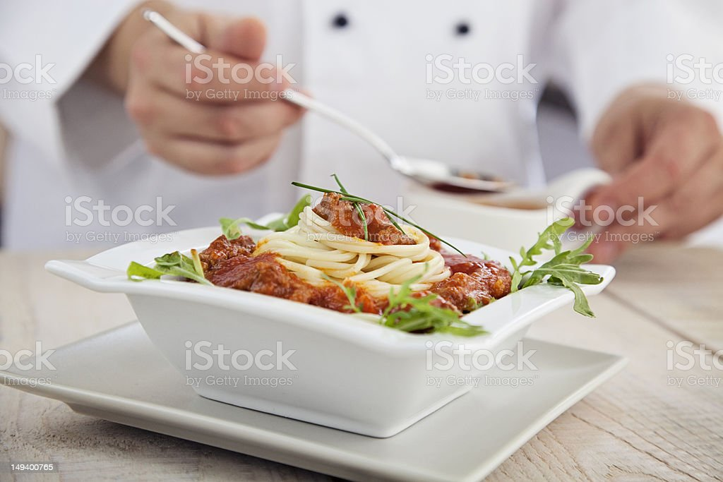 Male chef in restaurant royalty-free stock photo