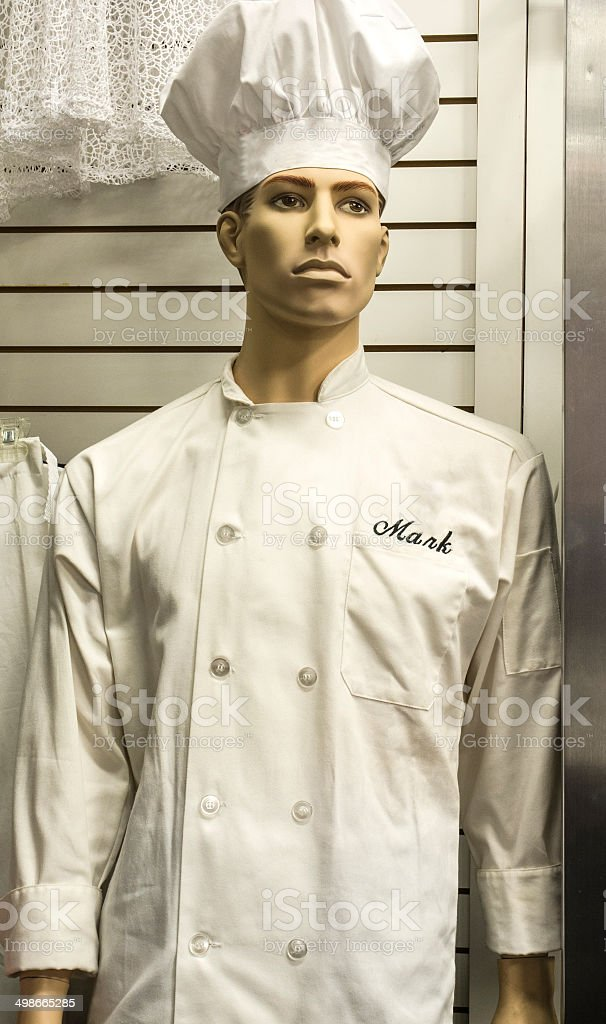 Male Chef Mannequinn In A Retail Store Display royalty-free stock photo