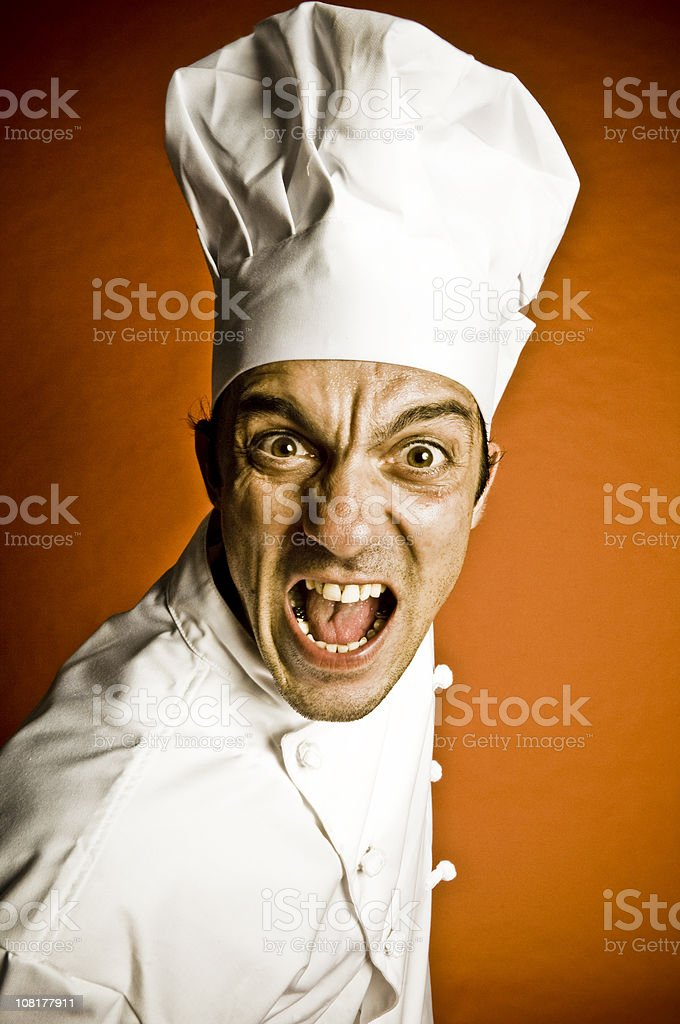 Male Chef Yelling royalty-free stock photo