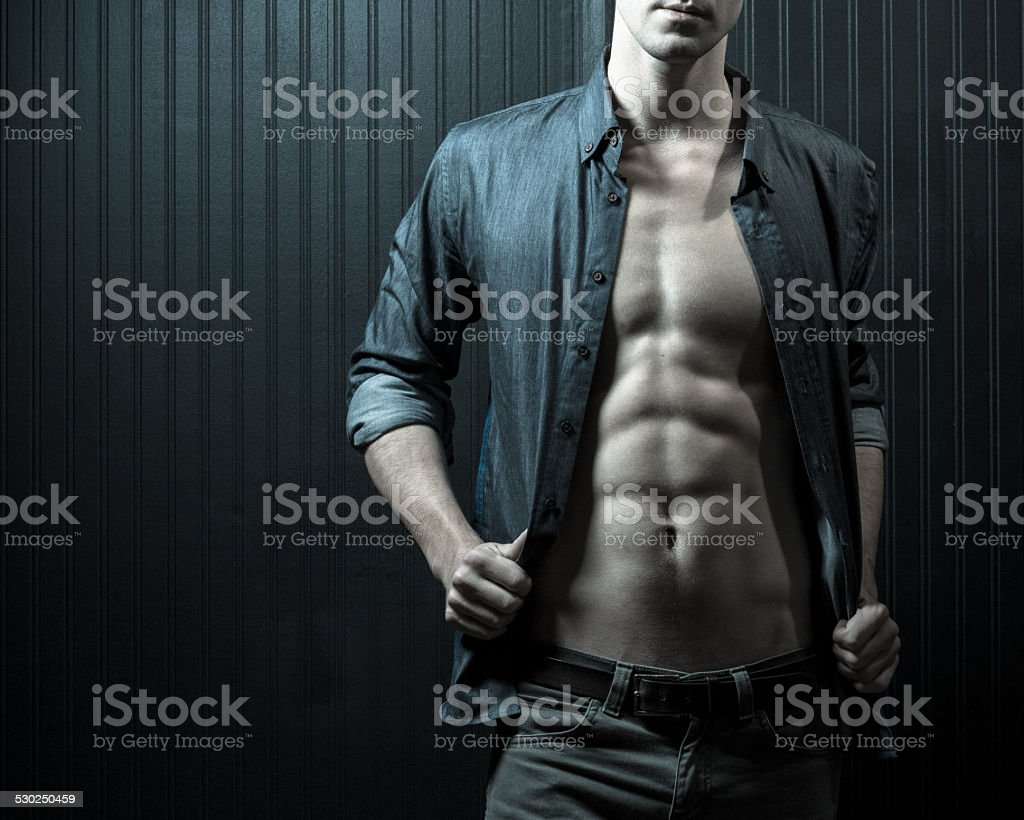 Male Chest And Mid-Section stock photo