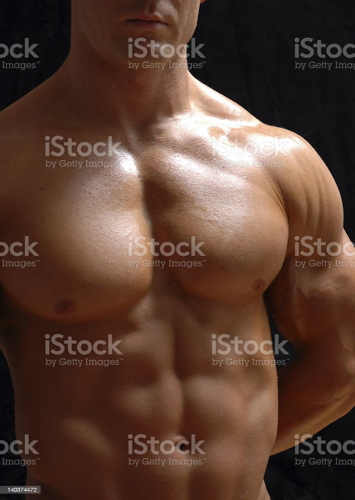 male chest royalty-free stock photo