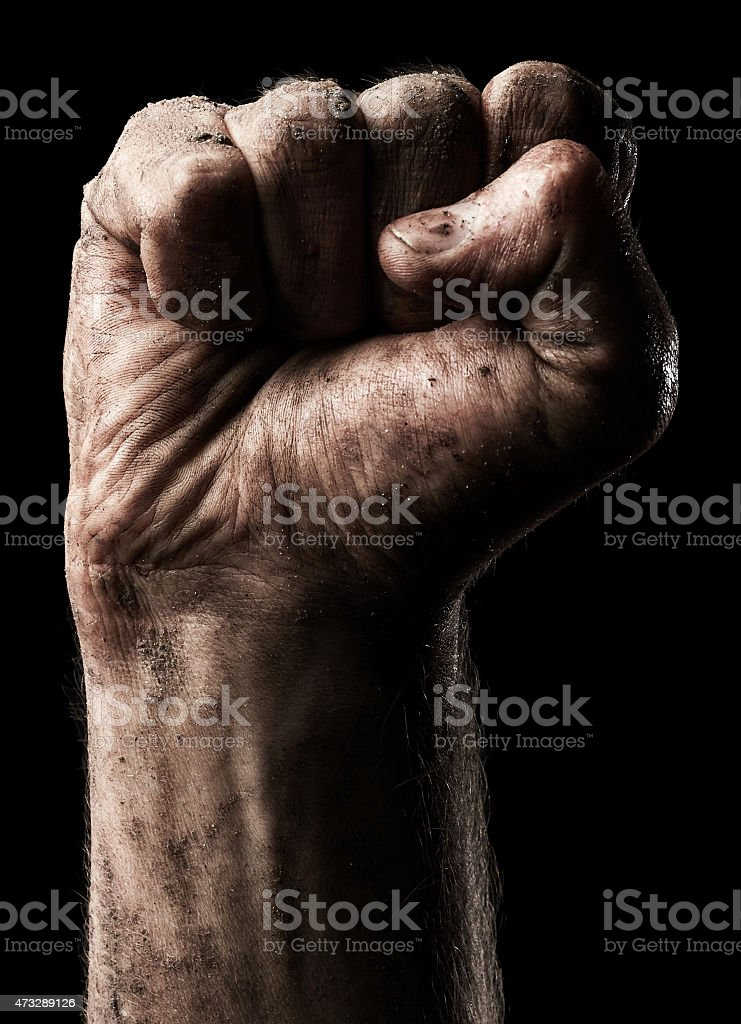 Male clenched fist stock photo