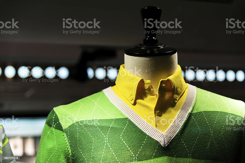 male cloth in shop royalty-free stock photo