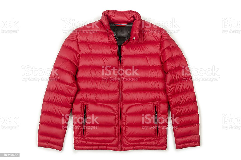 Male coat isolated on the white stock photo
