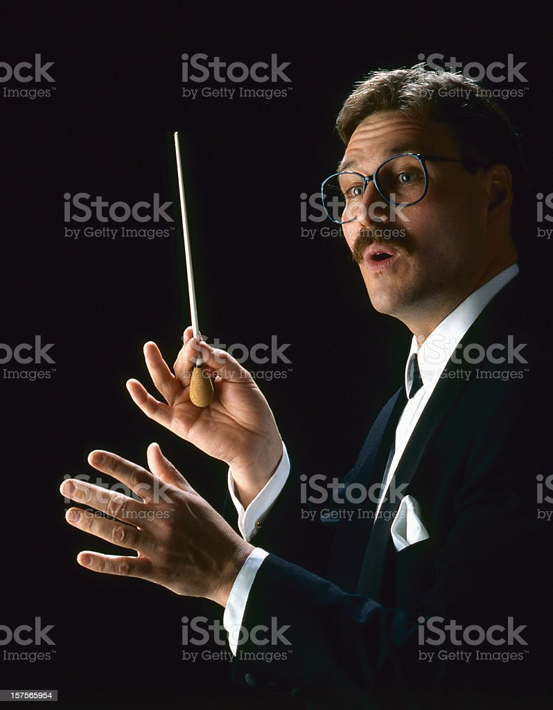 Male conductor stock photo