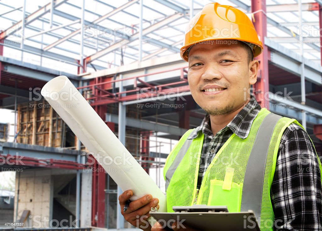 A male construction worker at work royalty-free stock photo