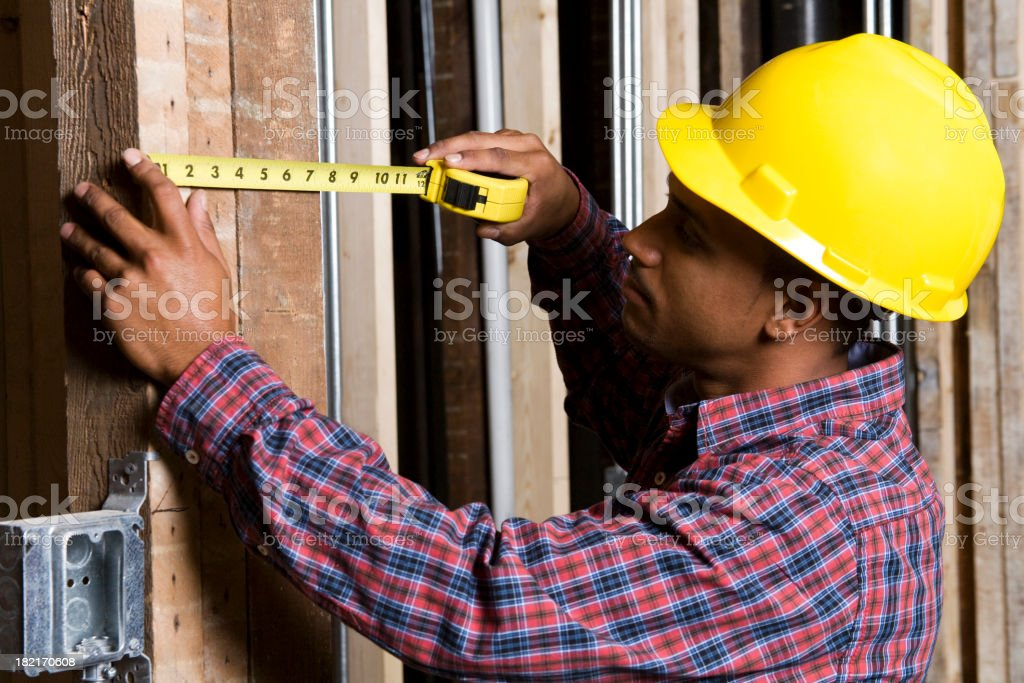 A male construction worker working on site royalty-free stock photo