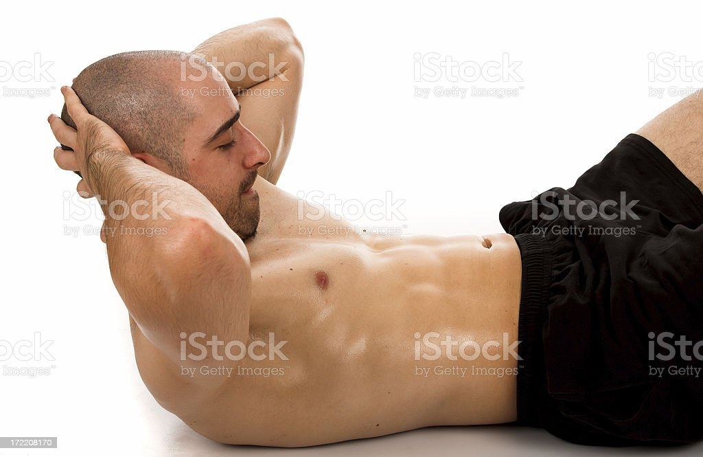 Male crunch royalty-free stock photo