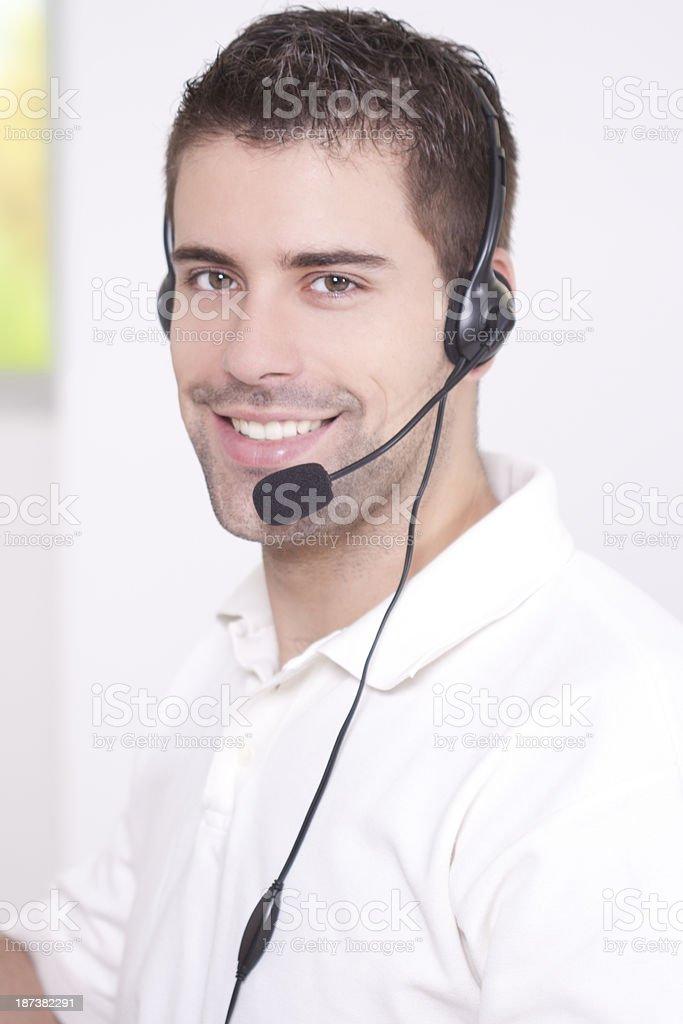 Male customer service operator royalty-free stock photo