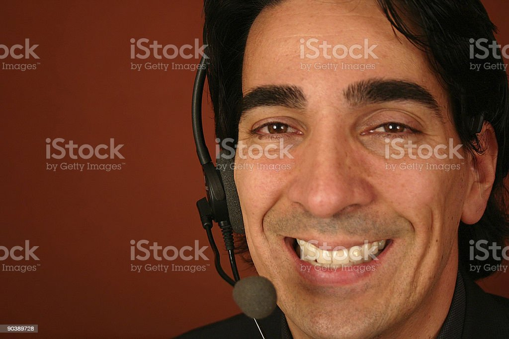 Male Customer Service Rep stock photo