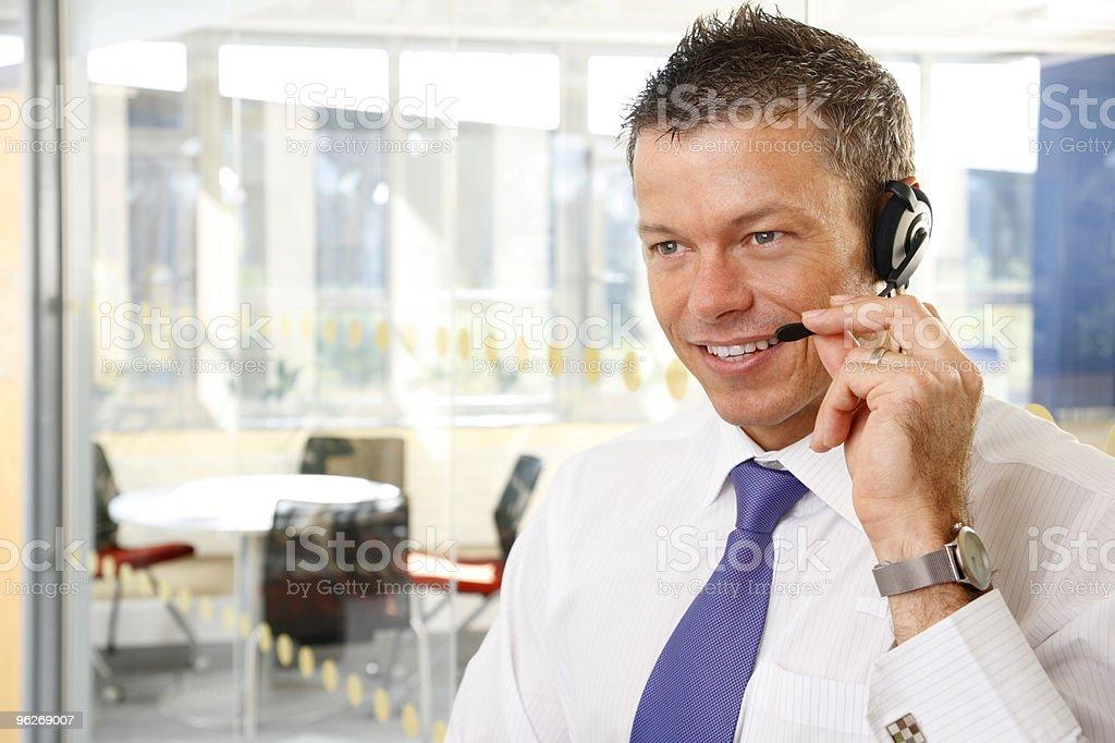 Male customer service representative royalty-free stock photo
