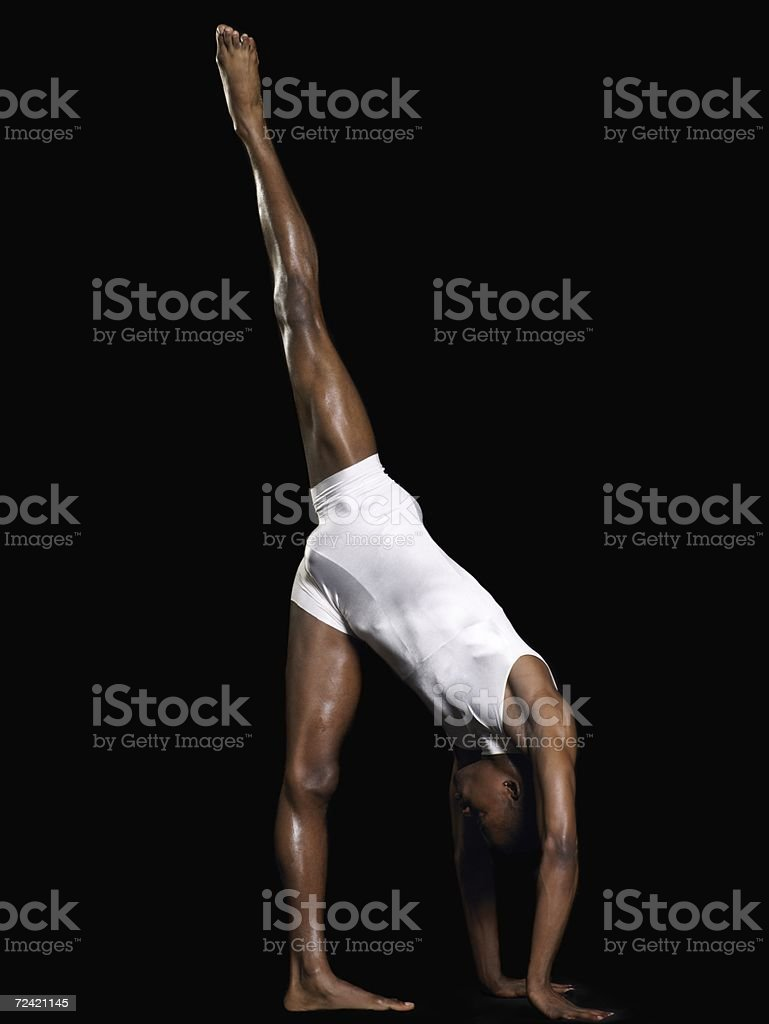 Male dancer balancing royalty-free stock photo