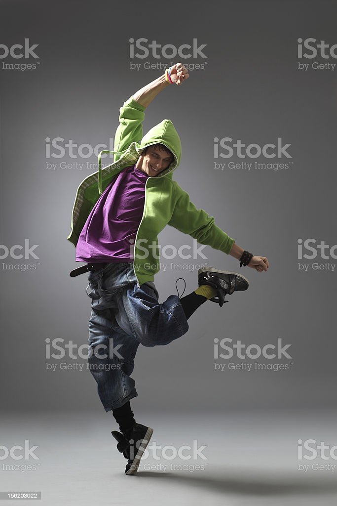 Male dancer in colorful clothing royalty-free stock photo