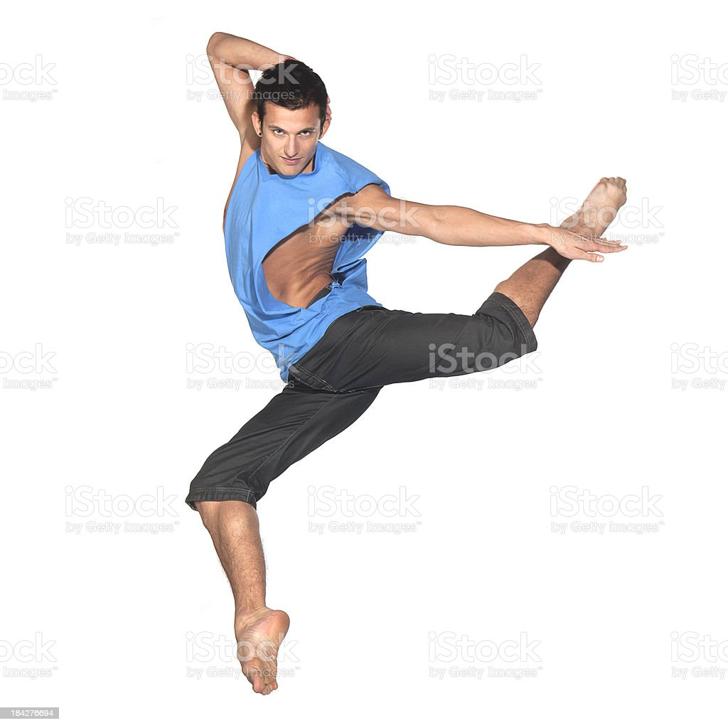male dancer jumping royalty-free stock photo