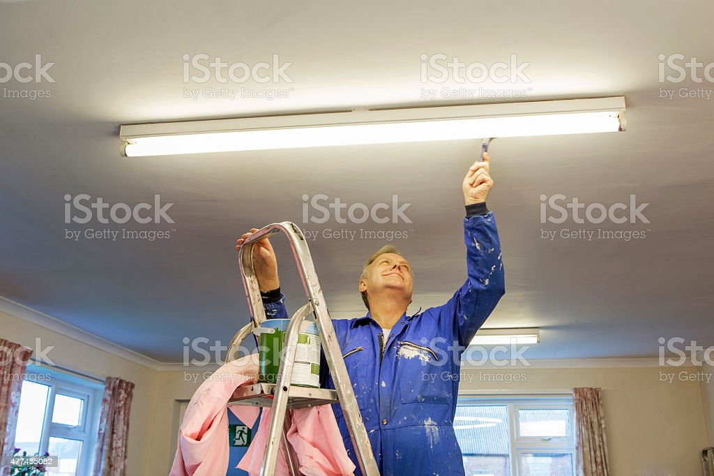 Male Decorator stock photo