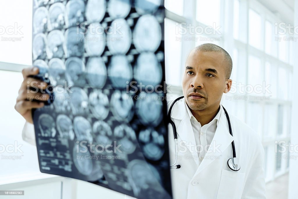 Male doctor examining an x-ray image. royalty-free stock photo