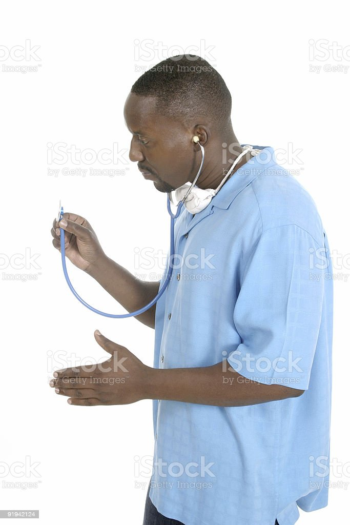Male Doctor Or Nurse royalty-free stock photo