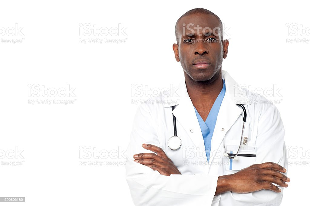 Male doctor posing  with arms crossed royalty-free stock photo