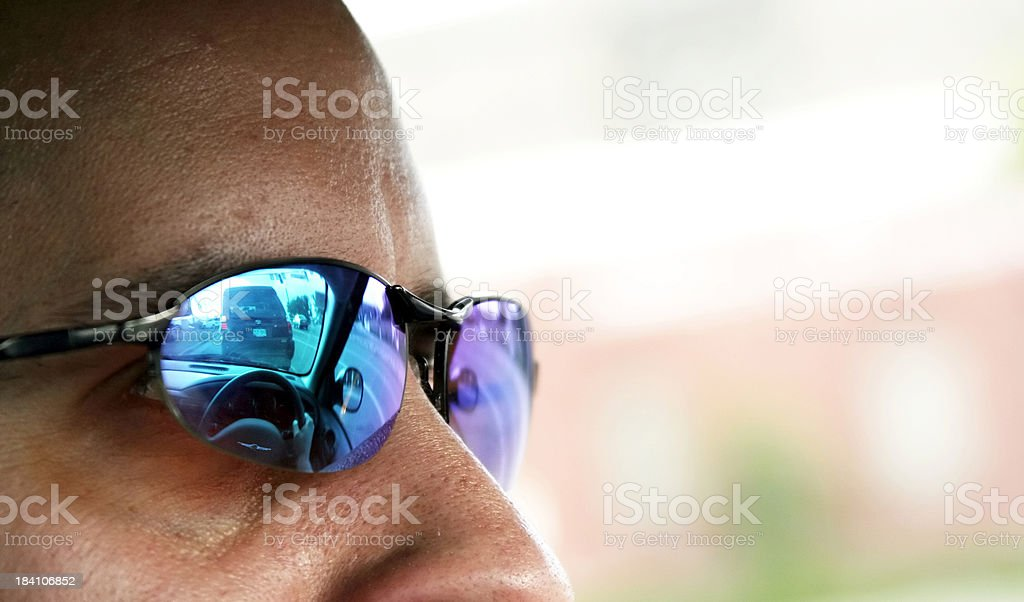 Male Driver Looking at the Road royalty-free stock photo