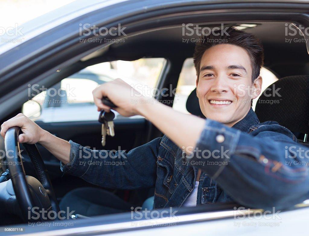 Male driver stock photo