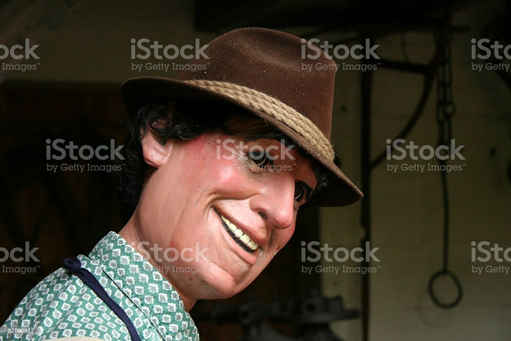 male dummy smiling royalty-free stock photo